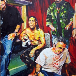 Iggy Pop and the Strugglers, exhausted    120 x 160cm