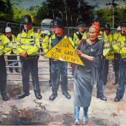 Westwood against fracking 160 x 120cm