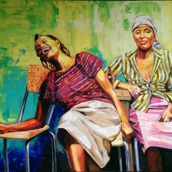 Laughing Ladies 160 x 140cm