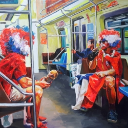 subway to heaven 140 x 120cm